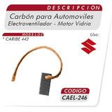 Carbones Motor Vidrio Electroventilador Caribe 442 Cael 246