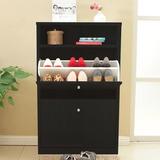 Mueble Organizador De Zapatos Negro 4 Niveles / Rebajas