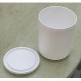 Envase Plastico De 1/4 De Galon En Color Blanco