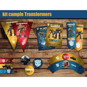 Kit Cumple Imprimible Transformers + Candy Bar