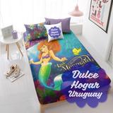 Sábanas La Sirenita Ariel En Dulcehogaruy