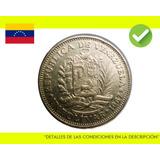 1 Bolivar 1967 Moneda Venezuela Colección Nusmismatica