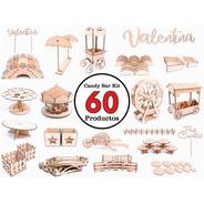 Candy Bar Kit 60 Productos - Mdf / Fibrofacil -