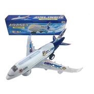 Avião De Brinquedo Infantil Musical Com Luz A380 Bate Volta