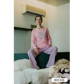 Pijama Mujer Juvenil Algodón Pantalón Manga Larga Estampada