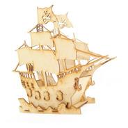 Centro De Mesa Barco Pirata Paquete Con 12 Piezas Mdf Adorno