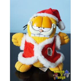 Boneco Gato Garfield Papai Noel De Pelúcia Tenho Mc Donalds