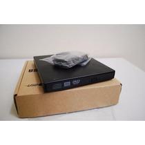 Drive Externo Case Usb Gravador E Leitor Cd E Dvd Novo Caixa