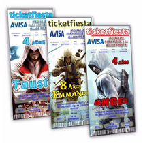 Diseño De Invitaciones Imprimibles Assassins Creed