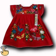 Vestido 1 Ano Estilo Batinha Em Algodão Bordado A Mao