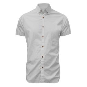 Camisa Manga Corta Reade Color Siete Para Hombre - Blanco