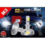 Kit Focos Led H3 Automotriz Db Link 50 Watts 6000k