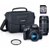 Canon T6 Premium Kit. 2 Lentes + 16gb + Filtro Uv + Bolso