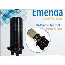 Caixa De Emenda De Fibra Óptica 24 Fibras Lisa Marca 2flex