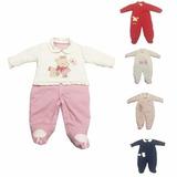 Macacão Inverno Longo Bebê 100% Algodão Confort Rn, P, M, G