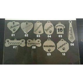 Placas De Identificação Para Pet Em Aço.
