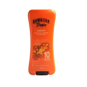 Locion De Zanahoria Hawaiian Tropic Con Filtro 10 Spf 240ml