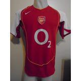 Camiseta Arsenal Inglaterra 2004 2005 Henry #14 Francia T. M