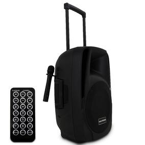 Caixa De Som Profissional Ativa Bluetooth 350w Rms Microfone