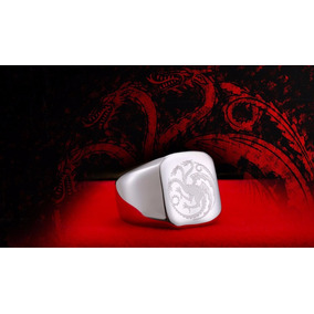 Anillo Acero Inoxidable Placa Dragón Game Of Thrones. Valbar
