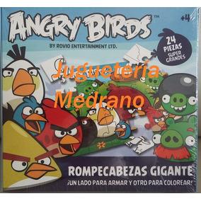 Rompecabezas Gigante 24p Angry Birds+lápices Colores Almagro