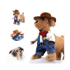 Traje Para Mascotas Vaquero Con Sombrero Traje De Perro Ropa