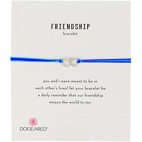 Dogeared Friendship Corazones Abiertos Enlazados Con Cade...