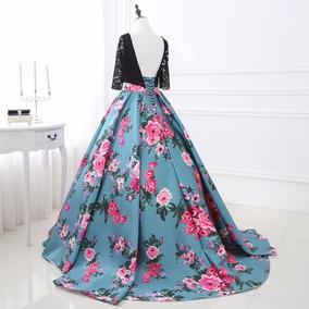 Vestido De Fiesta Dia Noche Dorado Envio Gratis E-2640