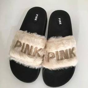 Ojotas Pink Piel Peluche
