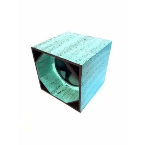 Caixa Canhão 1 Auto Falante 15 Polegadas Mdf 15mm Azul Claro