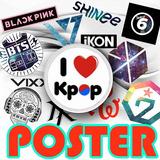 Poster Kpop - Diversos Modelos - 210x297mm (a4)