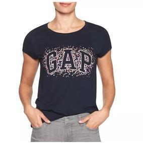 Remeras Gap Mujer Estampada Azul Originales Usa