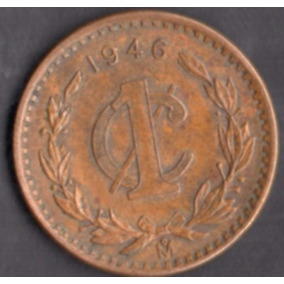 Moneda Un Centavo Monograma Laurel 1948 C12