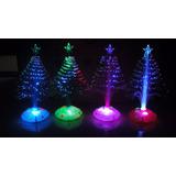 Colorido Arbol De Navidad Con Luz Led Y Fibra Óptica