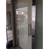 Puerta Vidrio Bancaria Tv Sencilla Templado 10 Mm Seguridad