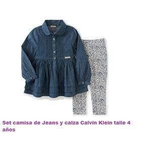 Set Camisa De Jeans + Calza Calvin Klein Importado!! Talle 4