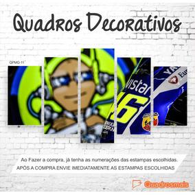 Tela Decorativa Valentino Rossi 46 Moto Gp 1,60x0,80