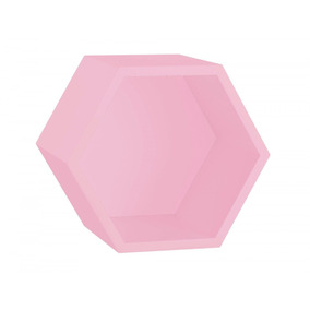 Nicho Hexagonal Mdf Favo Maxima Rosa Cristal Fi por Madeira Madeira 5f5d235163