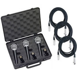 Combo Samson Kit 3 Microfonos R 21 + 3 Cables 6 Mts.envio