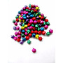 100 Cascabeles De Colores Surtidos 8mm Llamadores De Angeles
