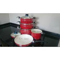 Set De Ollas, Sarten Y Lechera Con Ceramico! 2 Sartenes