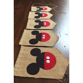 Banderines Vintage Mickey Minnie Mouse Cumpleaños