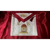 Mandil Masonico 3er Grado Maestro Exquisito Diseño