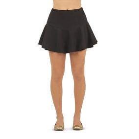 Short Falda Negra Corta Con Silueta Holgada Devendi Denim Co