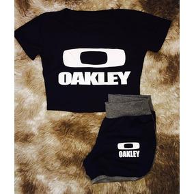 Conjunto Feminino Aokley Shorts Sport Moda Blogueira