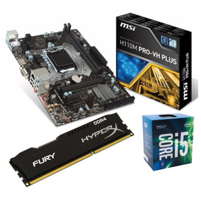 Kit Core I5 7400 + Msi H110m Pro-vh + Fury 8gb 2400mhz C/nf