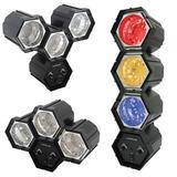 Jogo Luz Sequencial Led 3 Cores Starlux Conjunto Semáforo