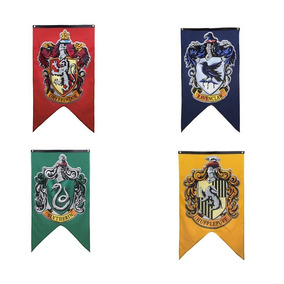 4 Bandeiras Harry Potter 4 Casas 120cm X76cm