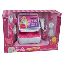 Caja Registradora De Barbie Sonidos Mattel