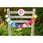 Guirnalda Mini Banderines Decoracion Casamientos Cumpleaños
